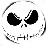Free Printable Jack Skellington Pumpkin Carving Stencil Templates   Jack Skellington Stencil Free Printable