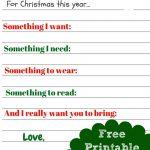 Free Printable Kids Christmas Wish List Santa Letter | Must Have Mom   Free Printable Christmas Wish List