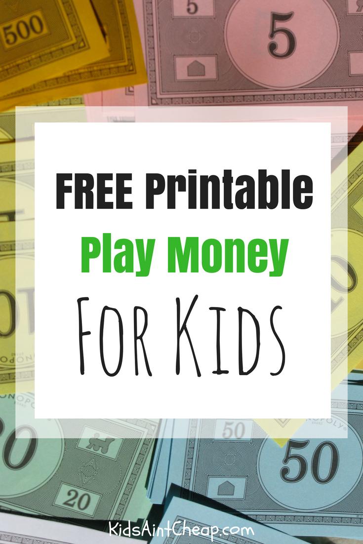 Free Printable Kids Money For Download   Kids Ain't Cheap - Free Printable Money For Kids