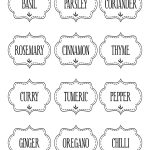Free Printable Kitchen Spice Labels … | Labels | Spice…   Free Printable Pantry Labels