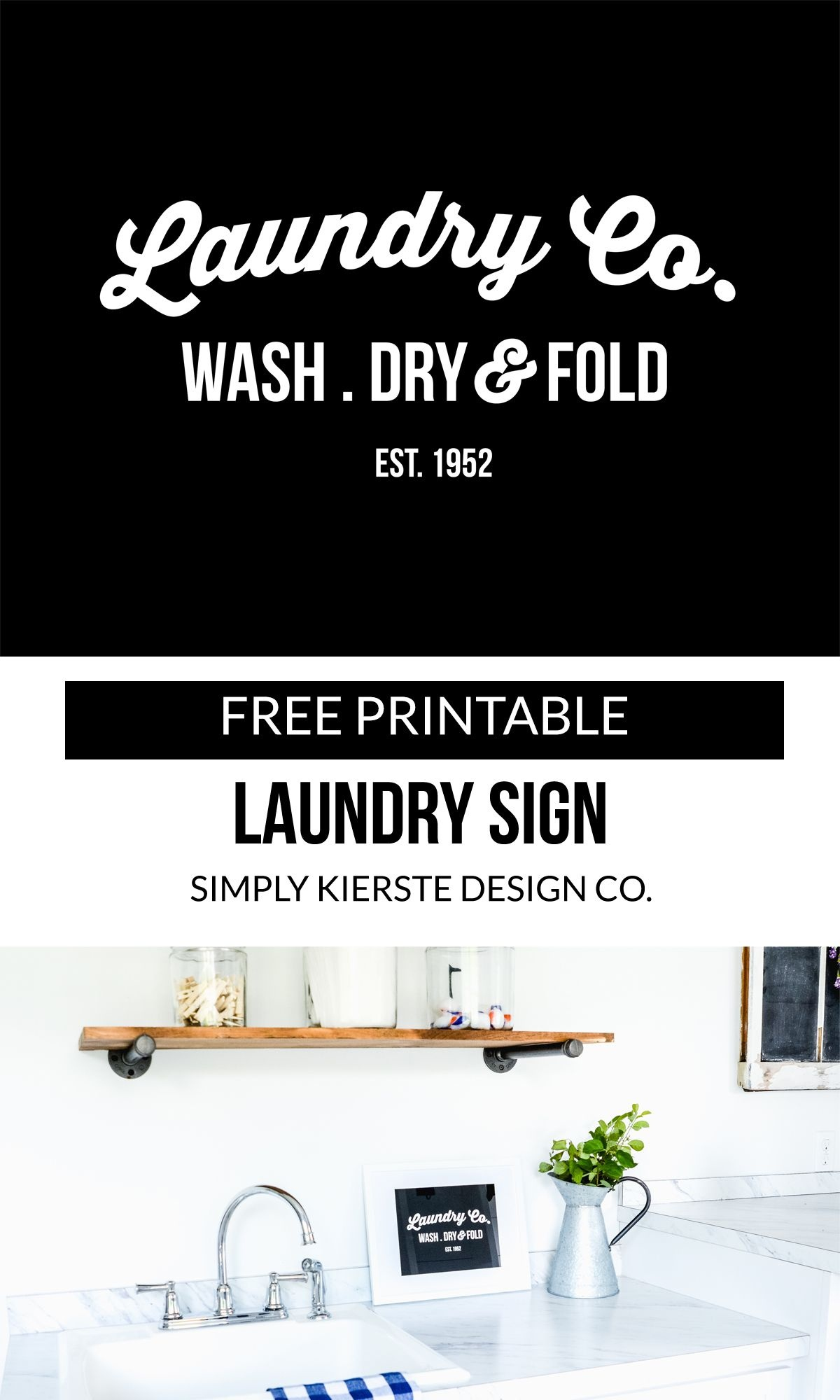 Free Printable Laundry Sign | Bloggers Best | Laundry Signs - Free Printable Laundry Room Signs