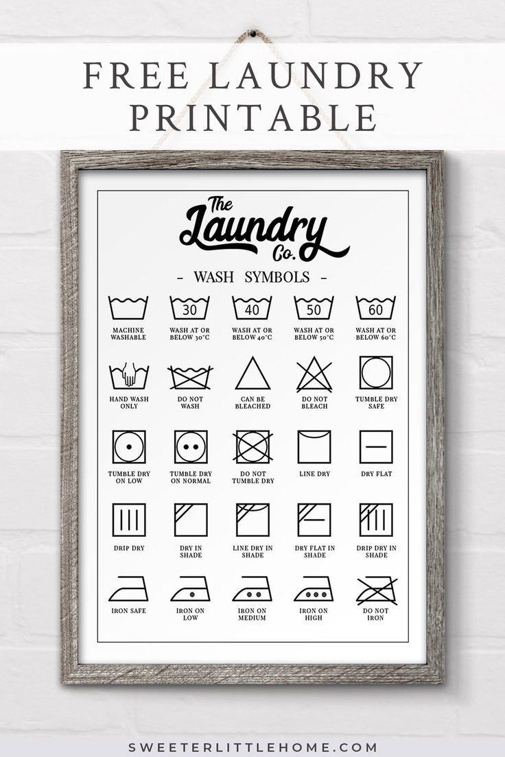 Free Printable Laundry Symbols Wall Art | Printables For Latter-Day - Free Printable Laundry Room Signs