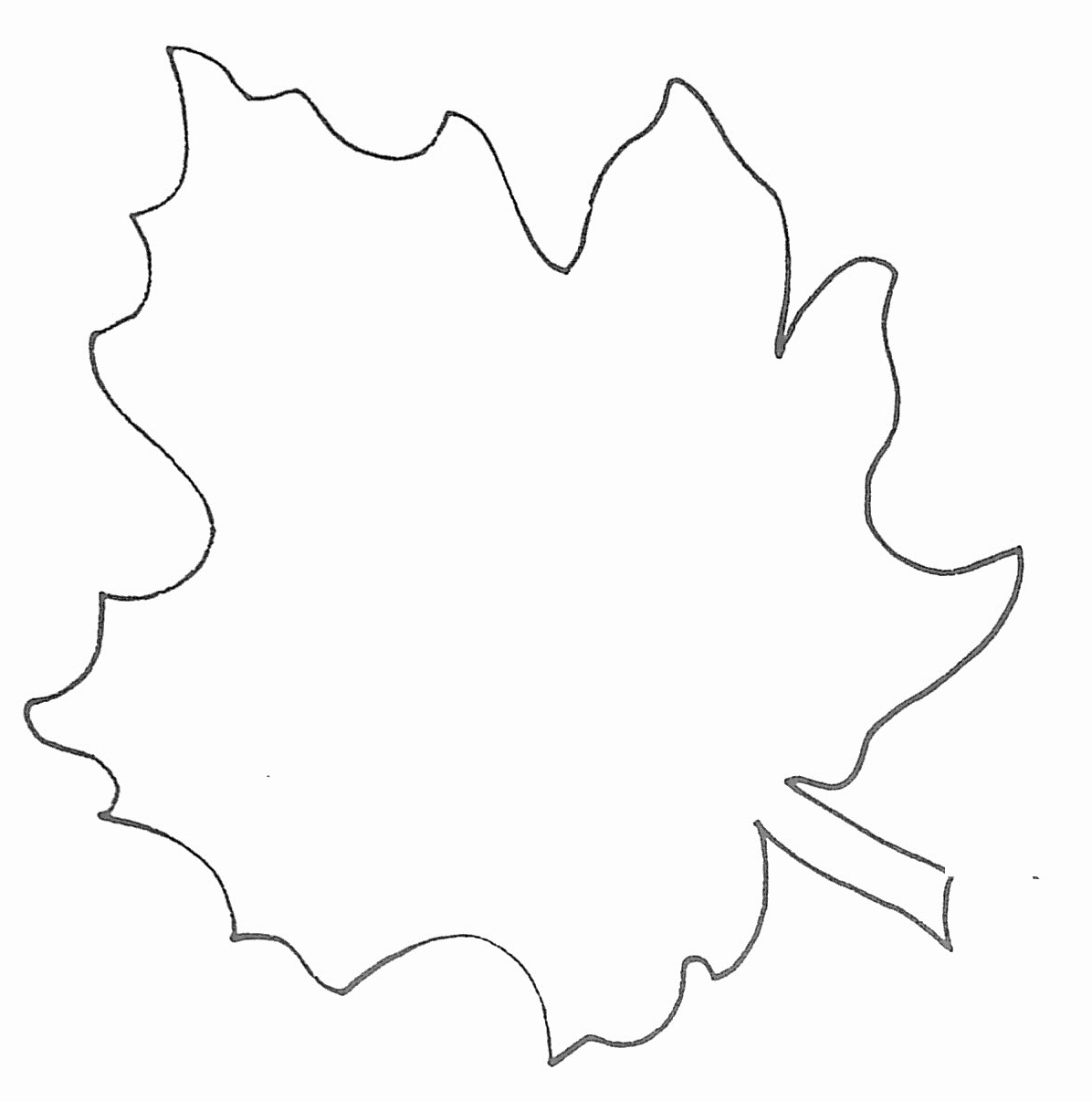 Free Printable Leaf Template | Mathosproject - Free Printable Leaf Template