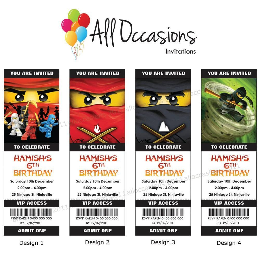 Free Printable Lego Ninjago Birthday Invitations - Lego Ninjago Party Invitations Printable Free