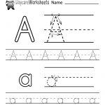 Free Printable Letter A Alphabet Learning Worksheet For Preschool   Free Printable Alphabet Worksheets