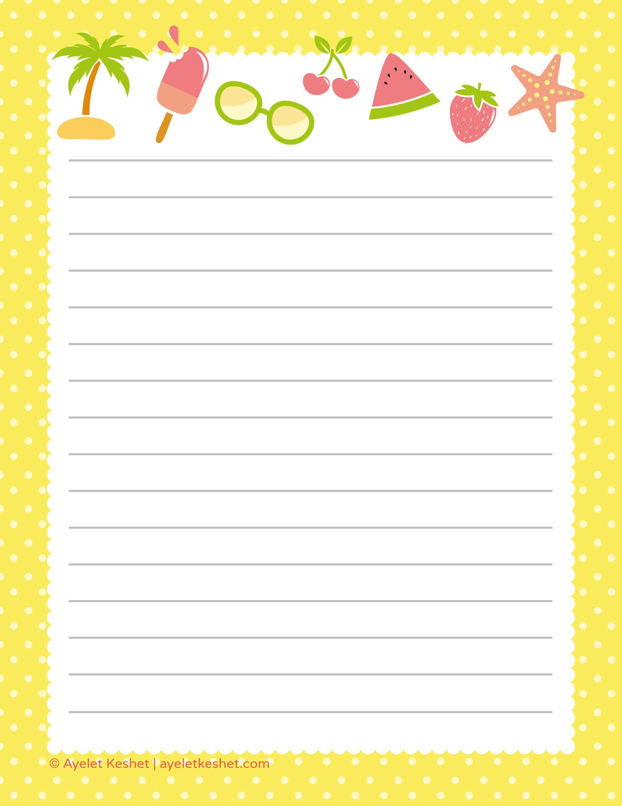 Free Printable Letter Paper | Printables To Go | Free Printable - Free Printable Stationery Paper