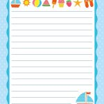 Free Printable Letter Paper | Printables To Go | Printable Letters   Free Printable Stationary With Lines