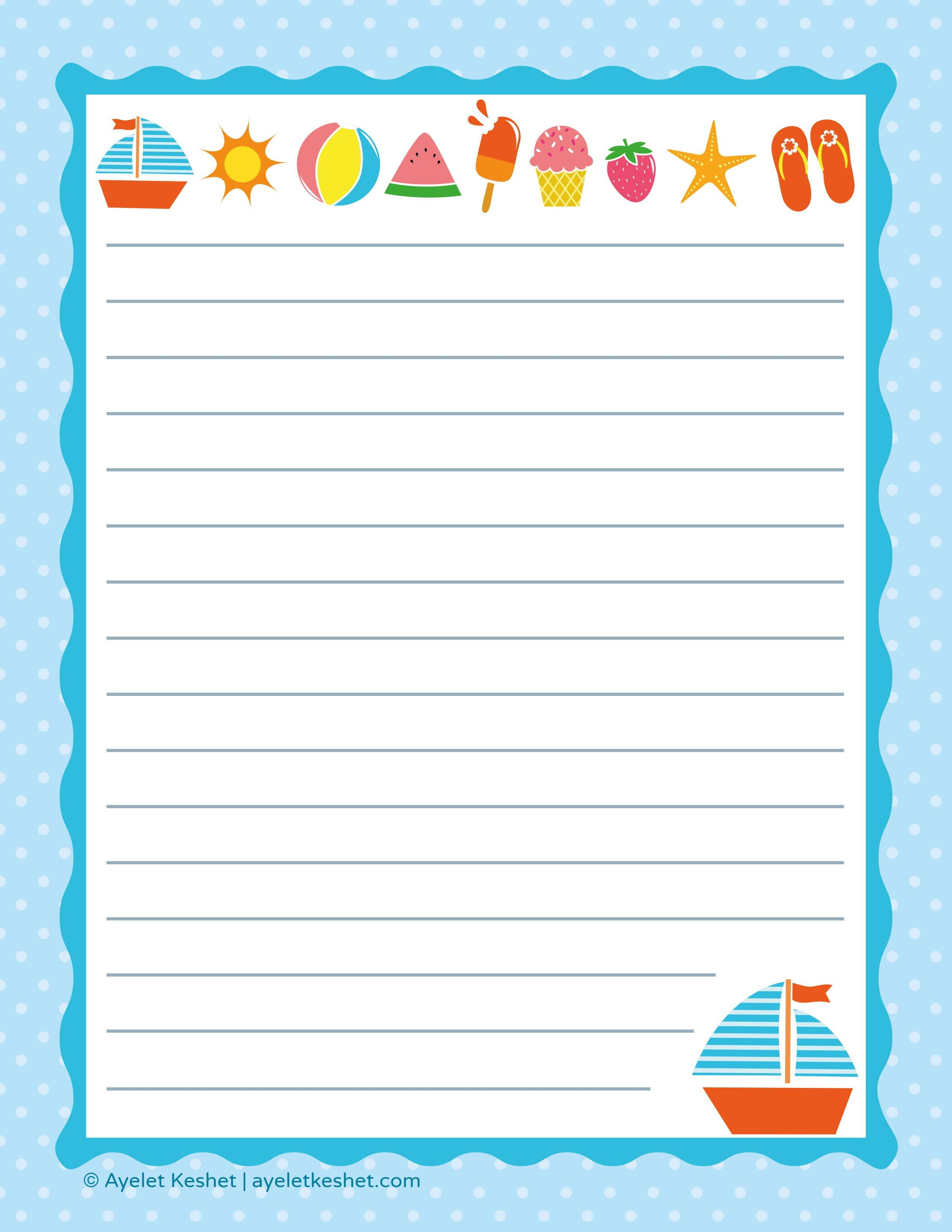 Free Printable Letter Paper | Printables To Go | Printable Letters - Free Printable Stationery Paper