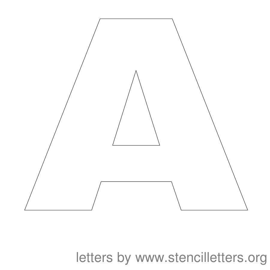 Free Printable Letter Stencils   Stencil Letters 12 Inch Uppercase - Free Printable Alphabet Stencils Templates