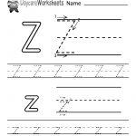 Free Printable Letter Z Alphabet Learning Worksheet For Preschool   Letter Z Worksheets Free Printable