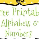 Free Printable Letters And Numbers For Crafts   Free Printable Bubble Numbers
