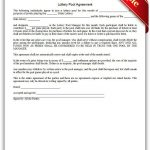Free Printable Lottery Pool Agreement Legal Forms | Free Legal Forms   Free Legal Forms Online Printable