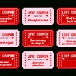 Free Printable Love Coupons For Couples On Valentine's Day! | Decor   Free Printable Kinky Coupons For Him