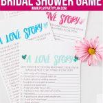 Free Printable Love Story Bridal Shower Game   Play Party Plan   Free Bridal Shower Printables