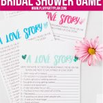 Free Printable Love Story Bridal Shower Game   Play Party Plan   Free Printable Bridal Shower Games And Activities