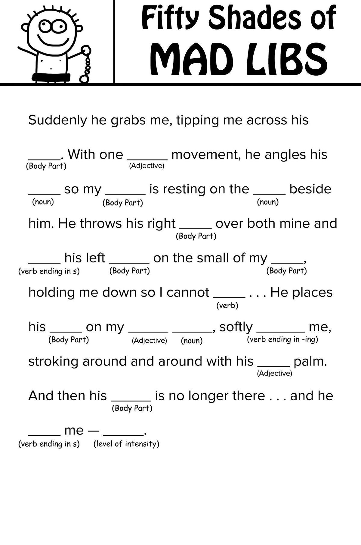 Free Printable Mad Libs For Kids (97+ Images In Collection) Page 2 - Free Printable Mad Libs For Middle School Students