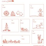 Free Printable: Madejoel » Holiday Gift Tag Templates   Christmas Name Tags Free Printable