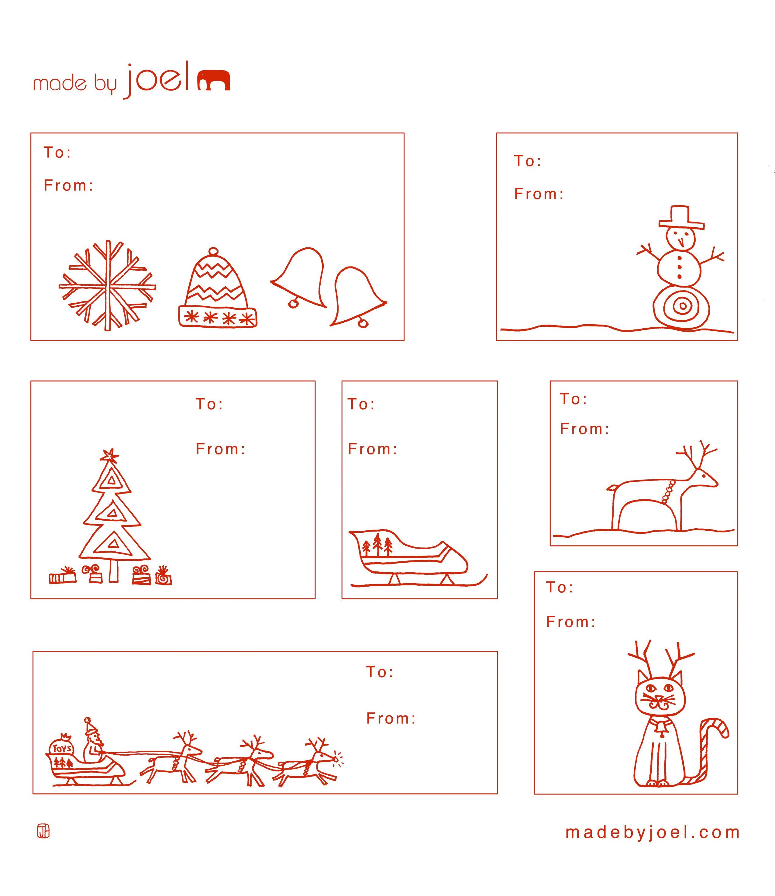Free Printable: Madejoel » Holiday Gift Tag Templates - Christmas Name Tags Free Printable