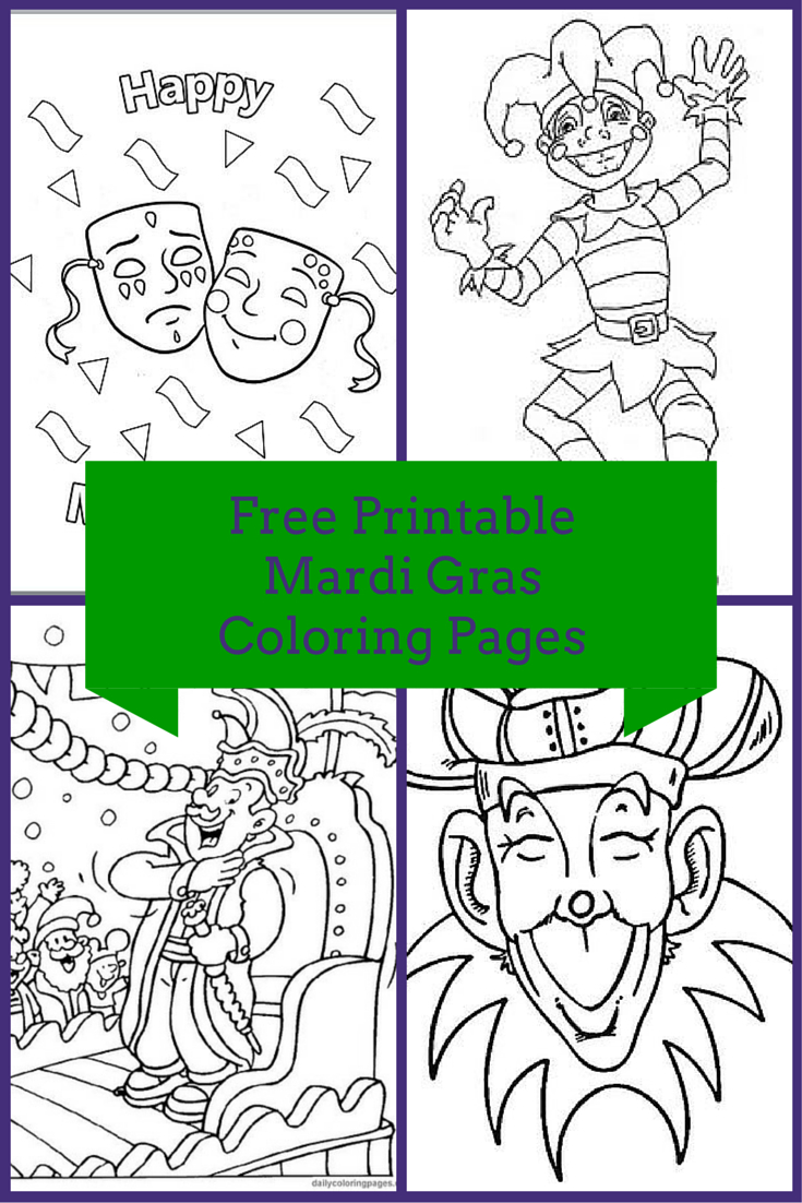 Free Printable Mardi Gras Coloring Pages - Mardi Gras Coloring Pages Free Printable