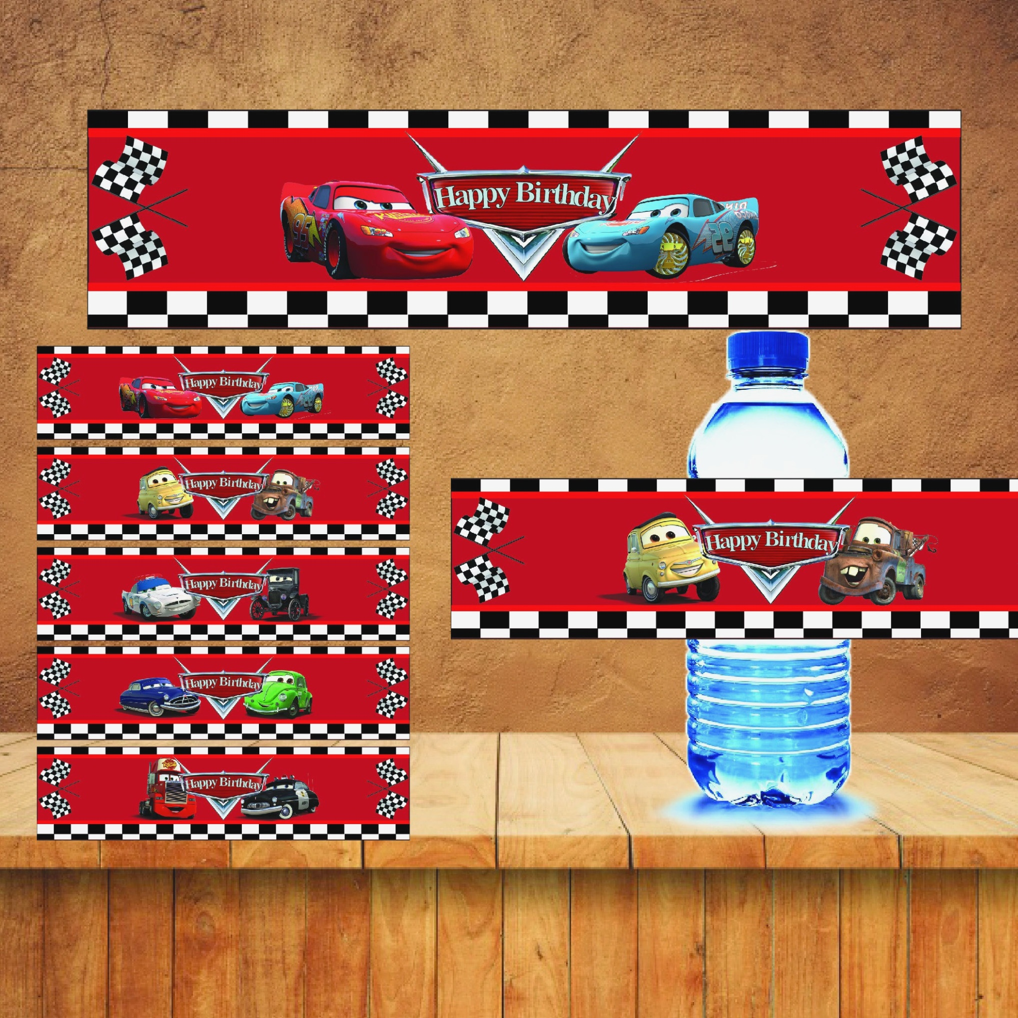Free Printable Mario Water Bottle Labels Disney Cars Drink Label - Free Printable Cars Water Bottle Labels
