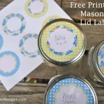 Free Printable: Mason Jar Labels   Laura K. Bray Designs   Free Printable Mason Jar Labels