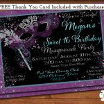 Free Printable Masquerade Party Invitations   Kaza.psstech.co   Free Printable Masquerade Birthday Invitations