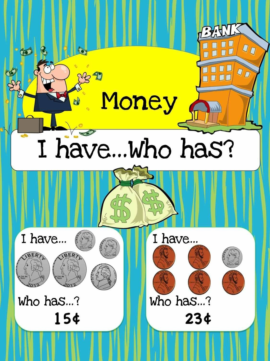 Free Printable Math Game: Money I Have, Who Has? | Homeschooling - Free Printable Game Money