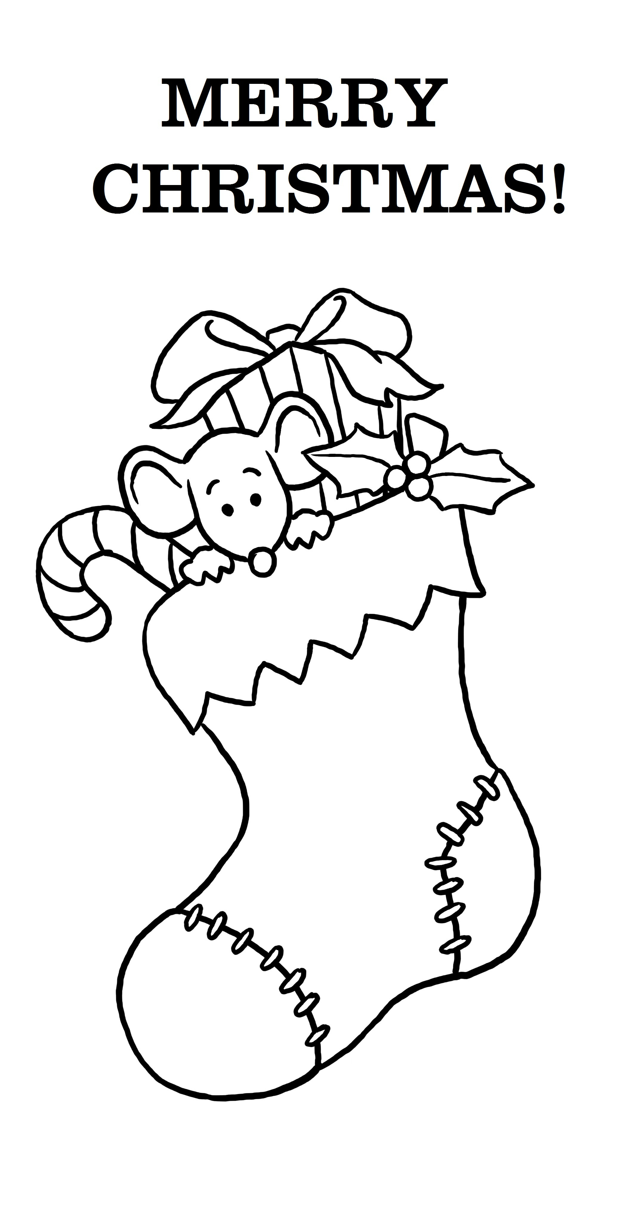 Free Printable Merry Christmas Coloring Pages - Free Printable Christmas Coloring Pages For Kids