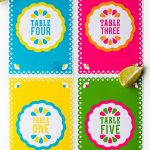 Free Printable Mexican Themed Table Numbers | Bespoke Bride: Wedding   Free Printable Mexican Party Decorations