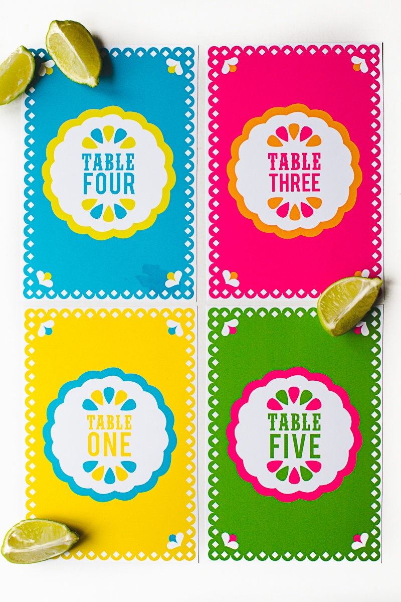 Free Printable Mexican Themed Table Numbers | Bespoke-Bride: Wedding - Free Printable Mexican Party Decorations