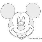 Free Printable Mickey Minnie Mouse Pumpkin Carving Stencils Patterns   Free Printable Mickey Mouse Template