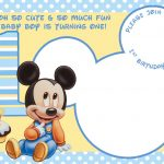 Free Printable Mickey Mouse Invitations   Exclusive | Free   Free Printable Mickey Mouse 1St Birthday Invitations