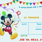 Free Printable Mickey Mouse Party Invitation Template | Free   Free Printable Mickey Mouse 1St Birthday Invitations