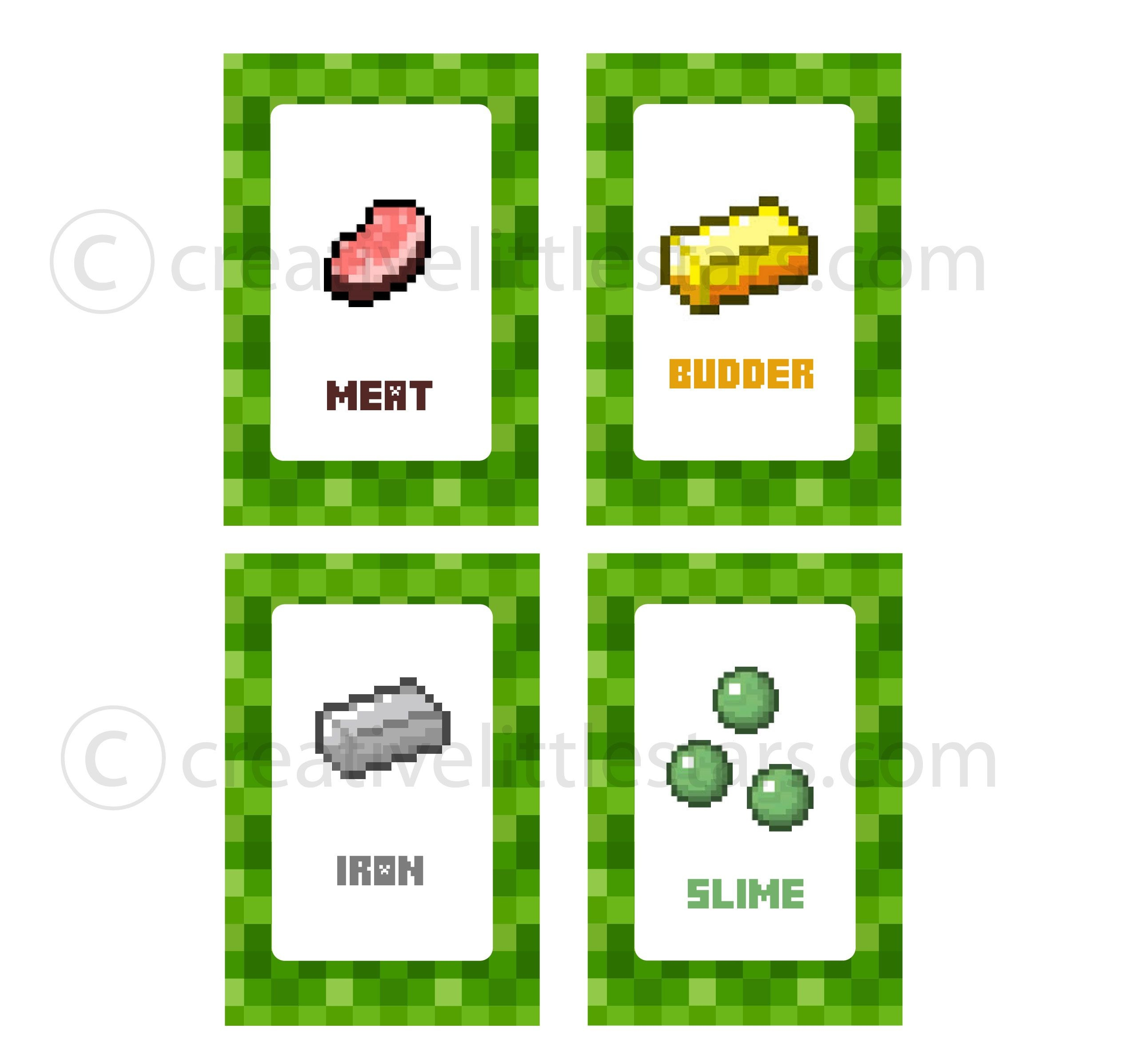 Free Printable Minecraft Food Tent Labels - Bing Images | Minecraft - Free Printable Food Tent Cards