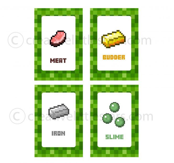 Free Printable Minecraft Food Labels