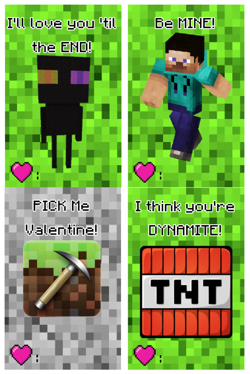 Free Printable Minecraft Valentine's Day Cards | Making Lemonade - Free Printable Valentines Cards For Son