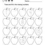 Free Printable Missing Number Counting Worksheet For Kindergarten   Free Printable Missing Number Worksheets