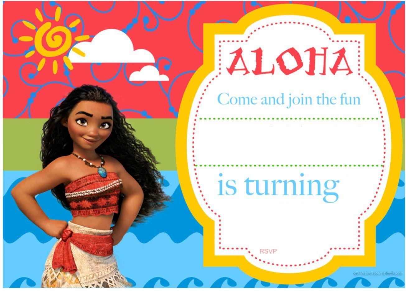 Free Printable Moana Birthday Invitation And Party | Free - Free Printable Moana Birthday Invitations