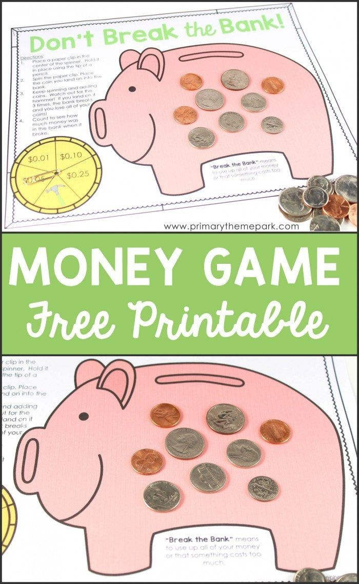 Free Printable Money Game   Homeschool   Money Activities, Second - Free Printable Game Money