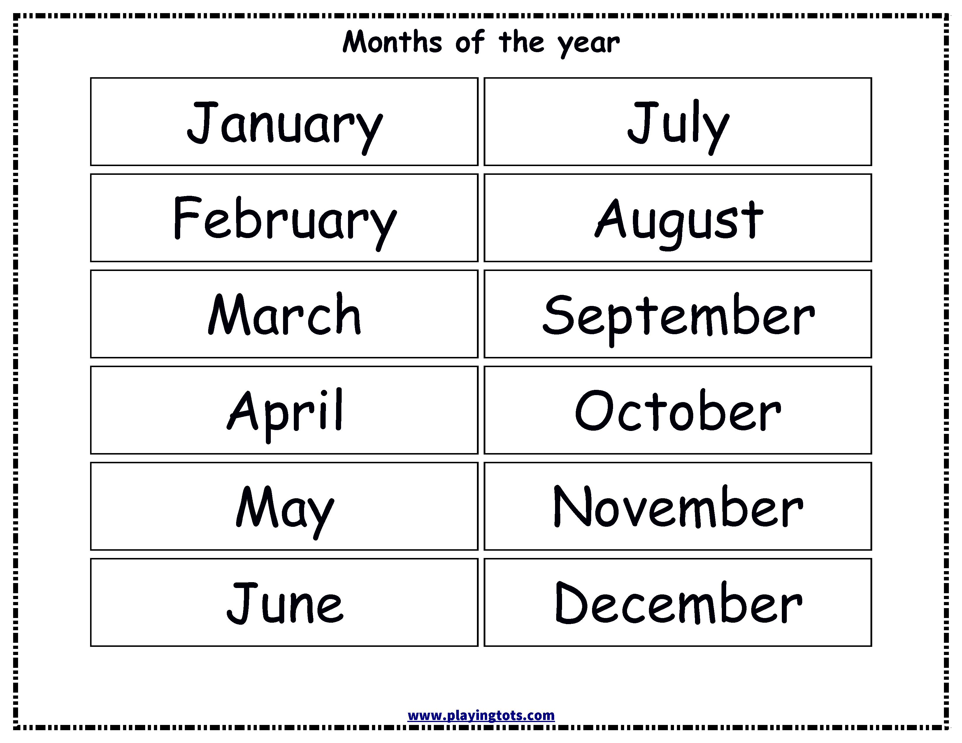 Free Printable Months Of The Year Chart | Alivia Learning Folder - Free Printable Months Of The Year Chart