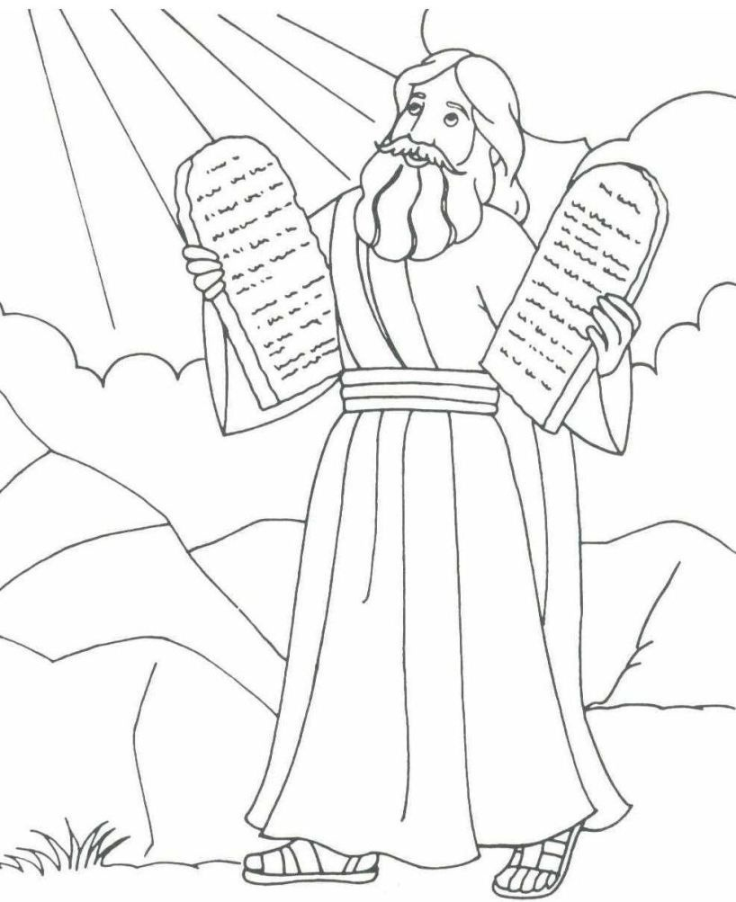 Free Printable Moses Coloring Pages For Kids | Projects To Try | Lds - Free Printable Ten Commandments Coloring Pages