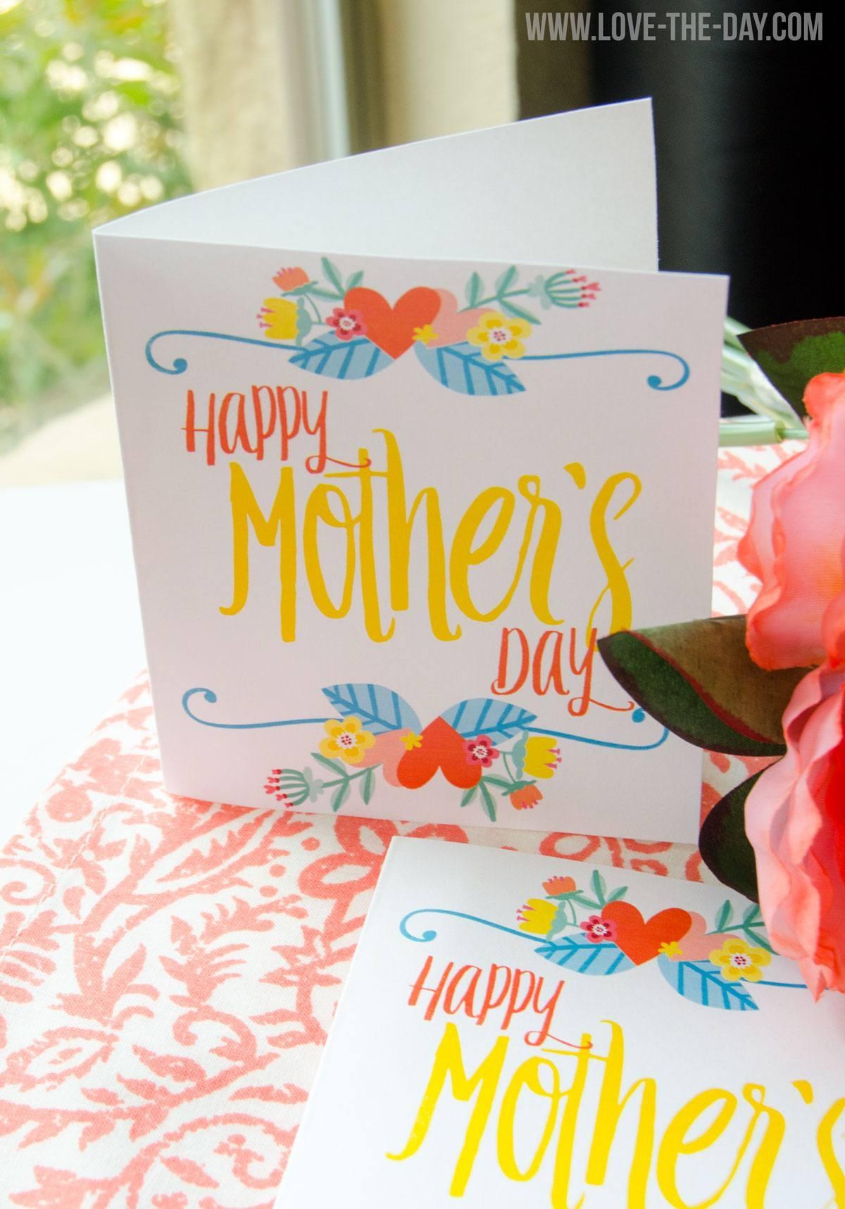 Free Printable Mother's Day Cardlindi Haws Of Love The Day - Free Printable Mothers Day Cards No Download