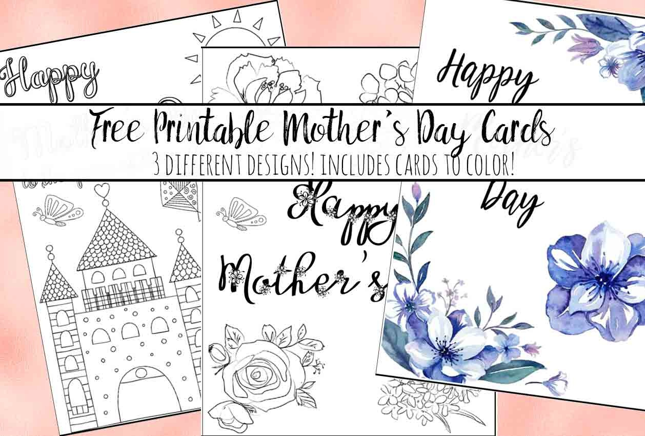 Free Printable Mother's Day Cards (Some Of Them You Can Color!) - Free Printable Mothers Day Cards To Color