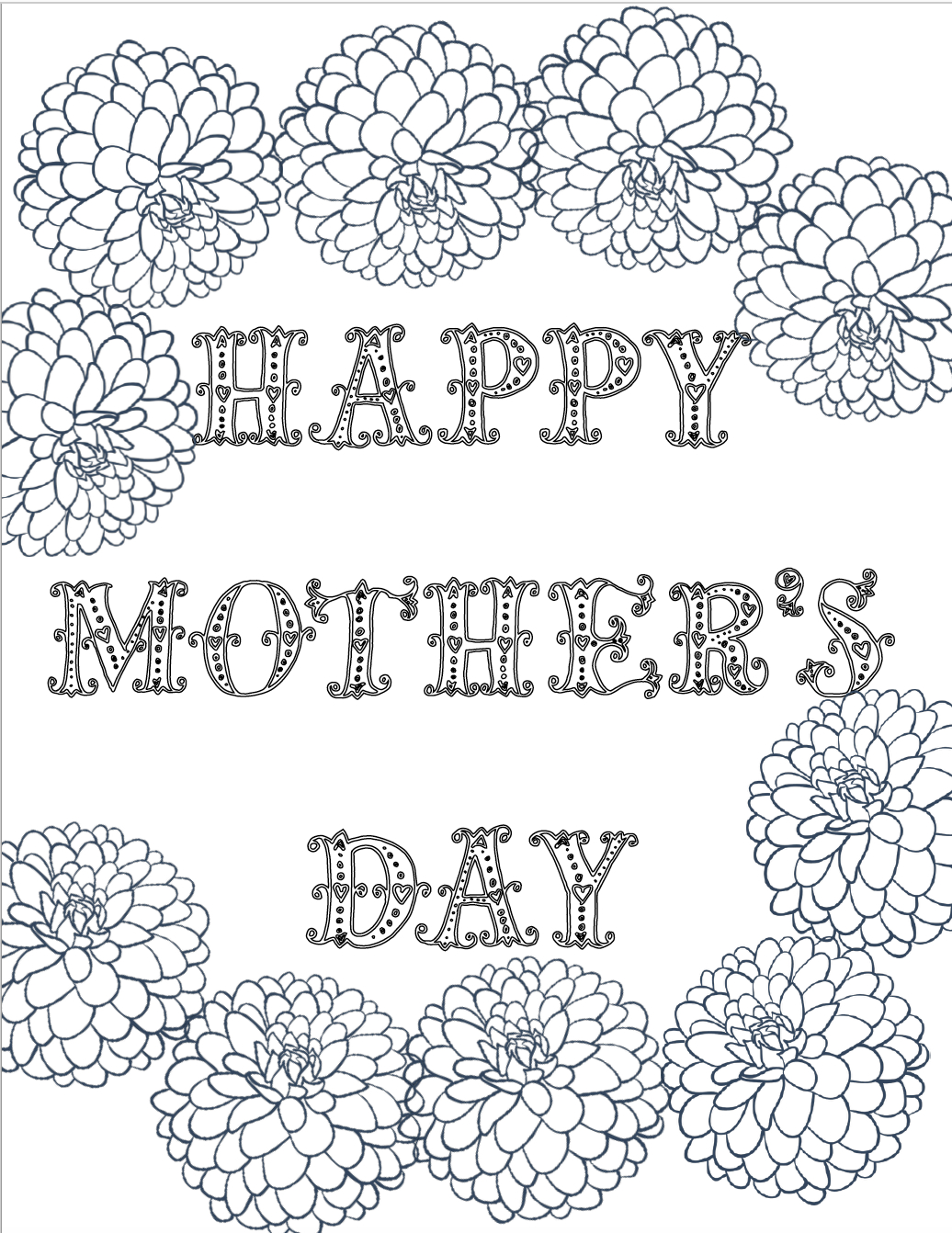 Free Printable Mother's Day Coloring Pages: 4 Designs - Free Printable Mothers Day Coloring Sheets