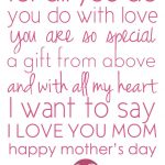 Free Printable Mothers Day Place Mats | Free Mother's Day Printable   Free Printable Mothers Day Poems