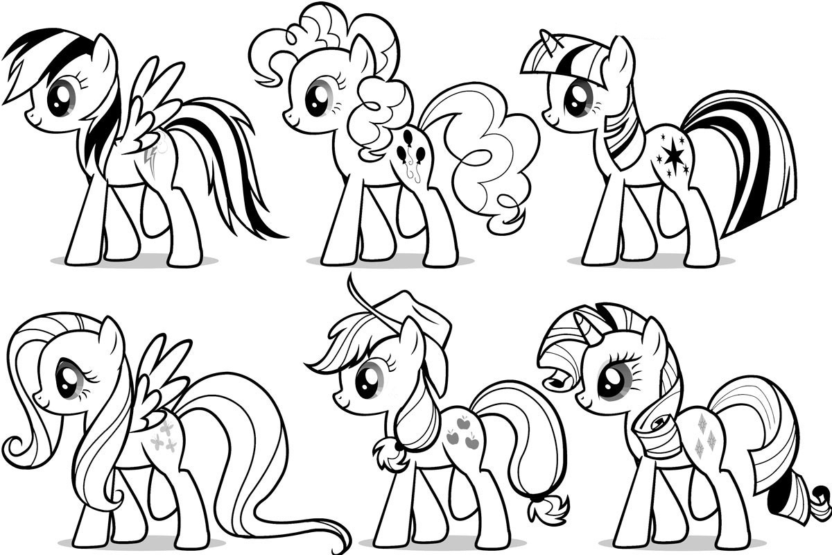 Free Printable My Little Pony Coloring Pages For Kids - My Little Pony Free Printables