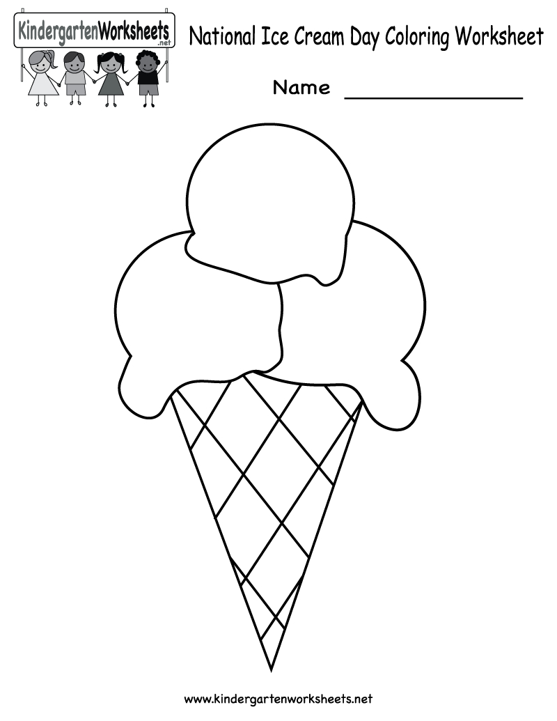 Free Printable National Ice Cream Day Worksheet For Kindergarten - Free Printable Ice Cream Worksheets