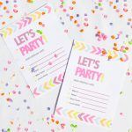 Free Printable Neon & Chevron Hen Party Bachelorette Party Invites   Free Chevron Printable Invitations