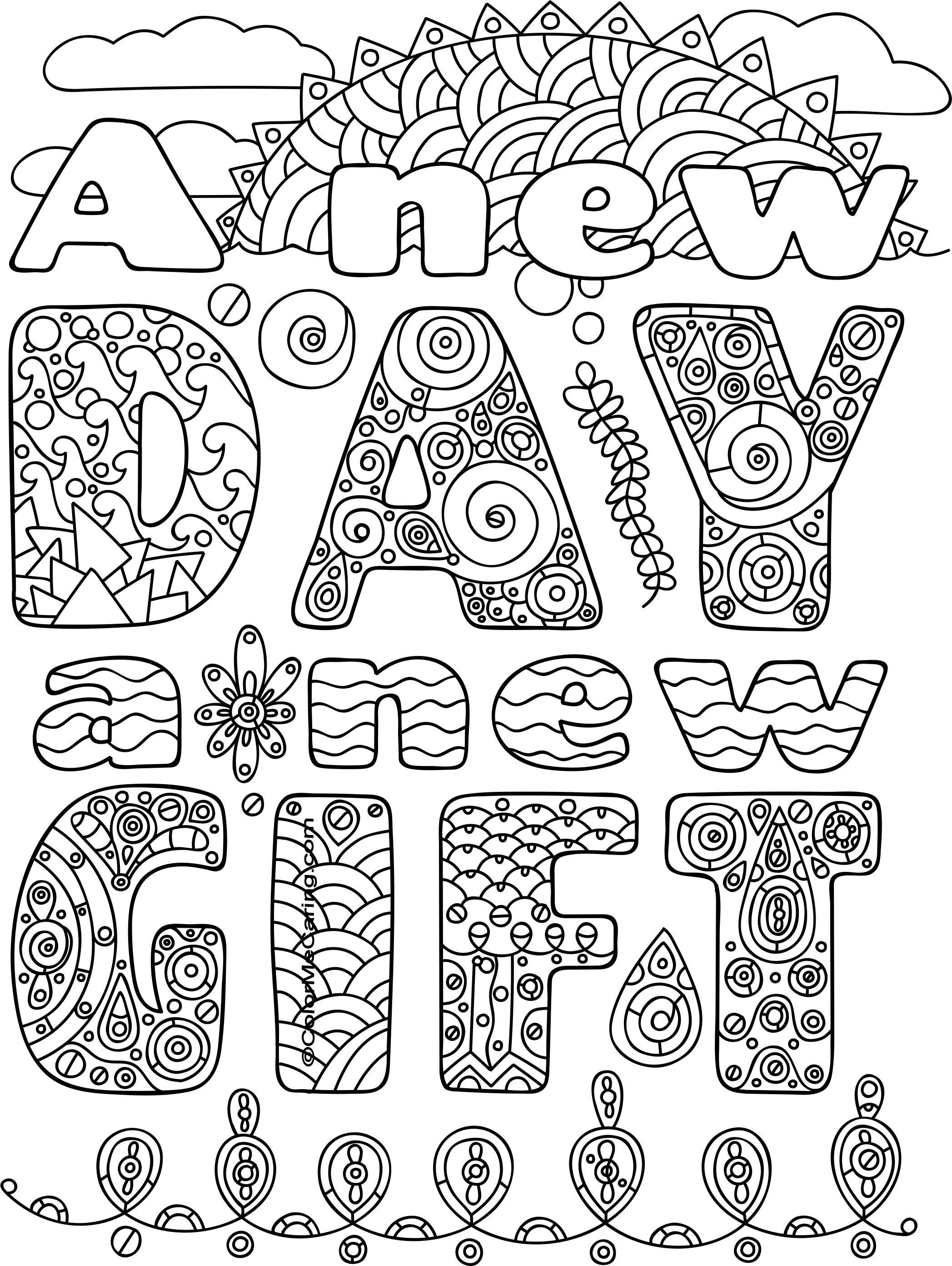 Free Printable New Year Coloring Pages | Coloring For Grown Ups - New Year Coloring Pages Free Printables