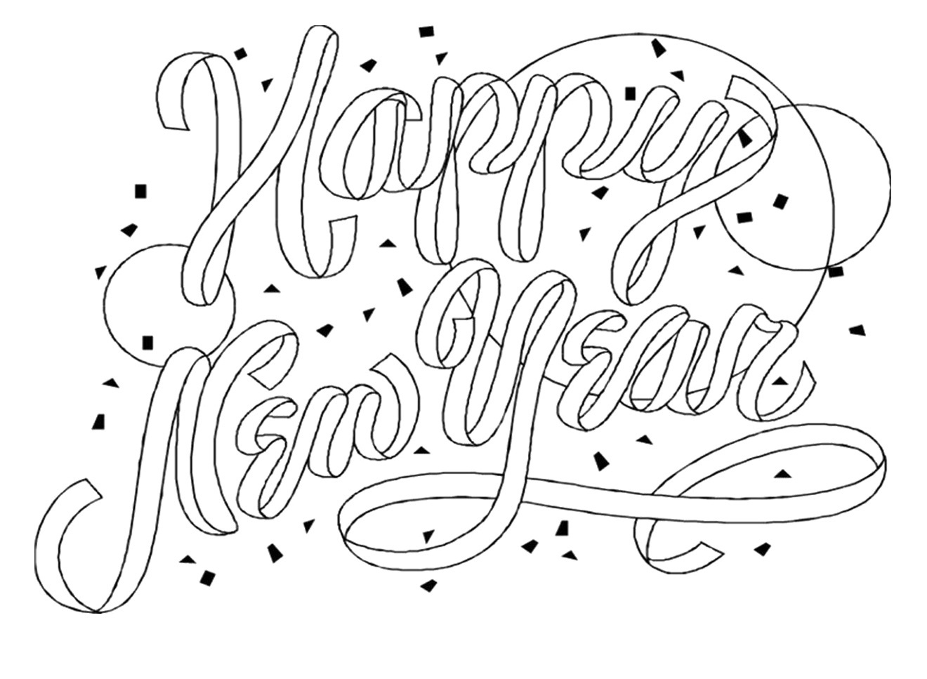 Free Printable New Years Coloring Pages For Kids - New Year Coloring Pages Free Printables